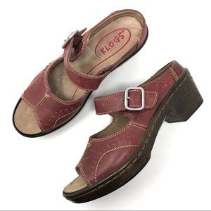 Klogs Brown Leather Mary Jane Shoes